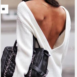 Sweaters - Deep V backless sexy sweater